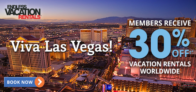 Get 30% Off†* with Endless Vacation Rentals® in LAS VEGAS hero image